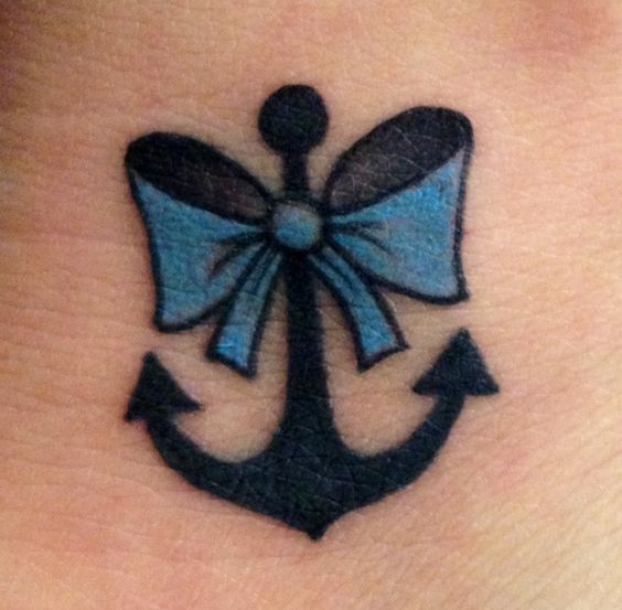 Cute girly tattoo but I'd have it in pink or red!