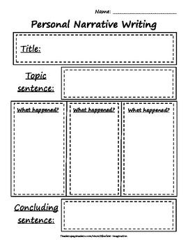 Personal Narrative Writing Rough Draft Worksheet   Narrativas ...