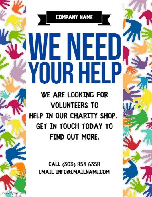 Volunteer Flyer Volunteer Recruitment Volunteer Flyer Template