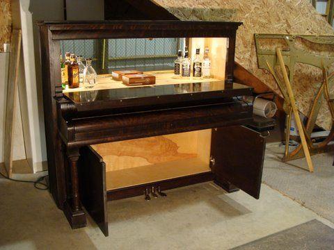 Repurposed Piano Into A Bar Repurpose Relove Pinterest Repurposed The O Jays