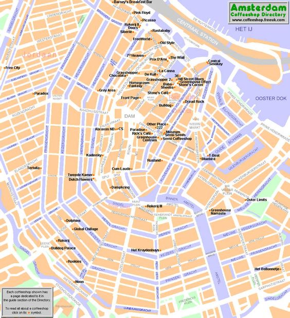 Coffeeshops with information best guide Amsterdam top tourist – Amsterdam Tourist Attractions Map