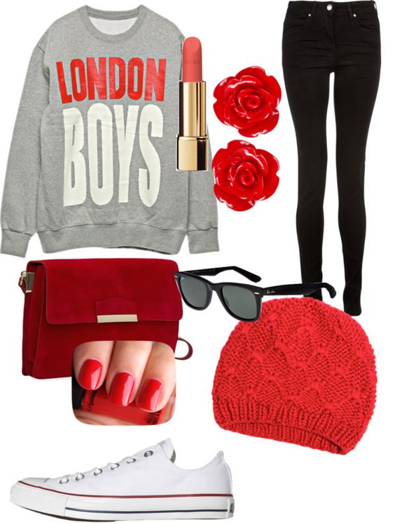 """Red"" by xo-head-over-sneakers-xo ❤ liked on Polyvore"