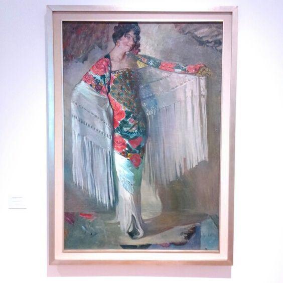 """Saturnino Herrán, """"la dama del mantón"""", 1914."""