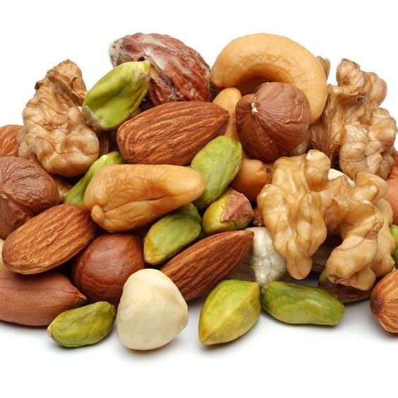 Nuts are definitely a superfood! They are full of healthy fats, fiber, vitamin E and plant sterols (which can naturally help to lower cholesterol). Watch the serving size though, they're also calorie-dense! Try raw almond butter on toast, or grab a handful of walnuts next time you need a snack.