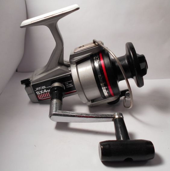 Vintage ryobi sx4m the silver cloud spinning spin fishing for Bass fishing spinning reels