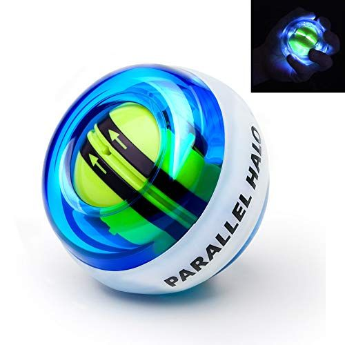 Parallel Halo Power Wrist Ball Auto Start Wrist Exercises Force Ball Gyroscope Ball With Led Lights Training Tools Wrist Exercises Strength Training Equipment
