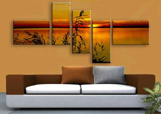 Multi panel canvas print split one photo into five panels for Set of three canvas paintings