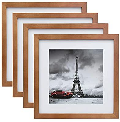 Amazon Com Egofine 11x11 Picture Frames 4 Pack Display Pictures 8x8 With Mat Or 11x11 Without Mat Made Of S In 2020 Picture Display Table Top Display Picture Frames