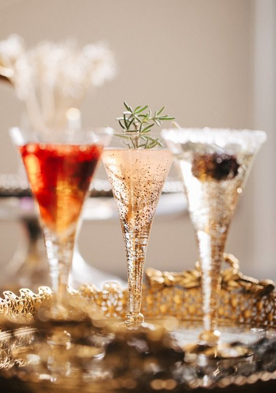 Champagne cocktails.