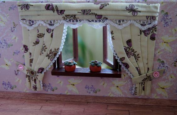 Шторы для кукольного домика / Curtains for dollhouse