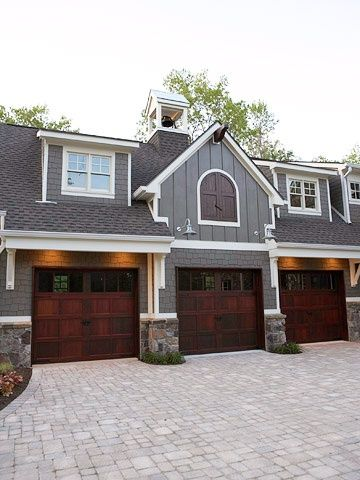 Weekend dreaming gorgeous lake house lakes wood trim for Gorgeous garage