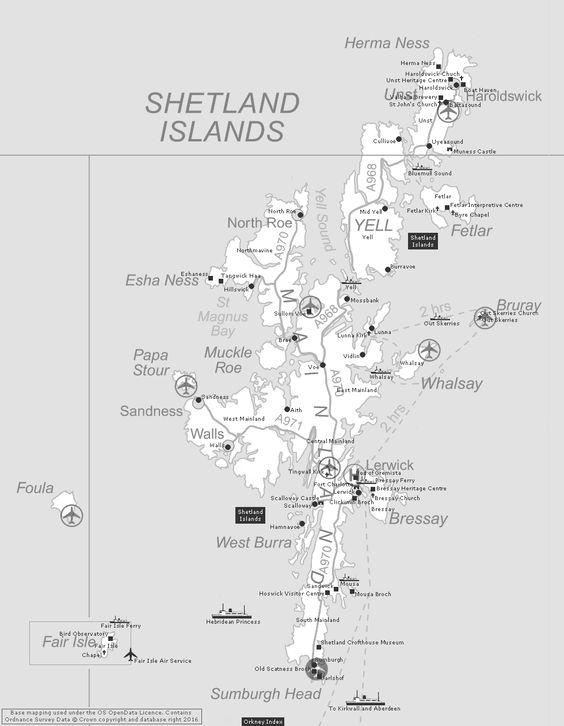 Shetland Index Clickable Map With Images Shetland Scotland Map Shetland Islands