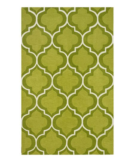 @Andrea Roes Lime Interlocking Infinity Rug, for the entryway??????