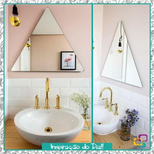 Tendência chegando !! Espelhos em formatos geométricos e diferentes <3 Simplesmente lindoooo, já queremos também. Inspiração do dia para vocês! #ambientes #casa #compredopequeno #criativo #decoração #decorar #decorativo #diferentes #estilo #façavocemesmo #ideia #inspiração #inspirar #jeito #lojaonline #parainspirar #topquadros #tendência #espelho #triângulo