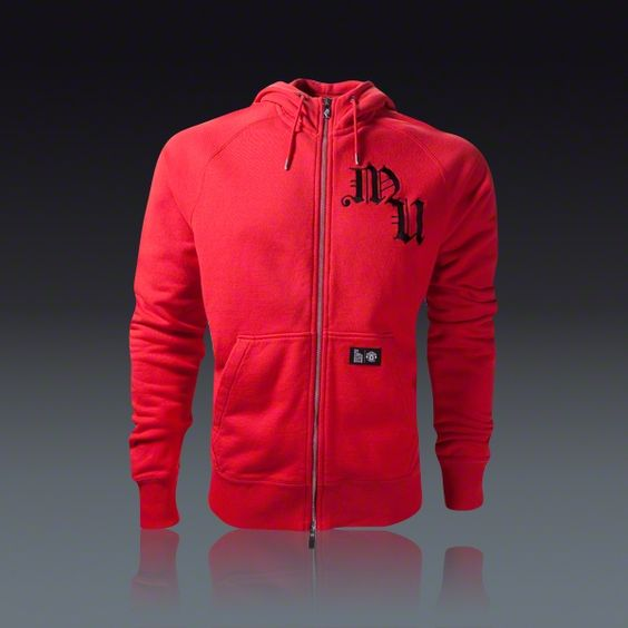 manchester united zip up hoodie