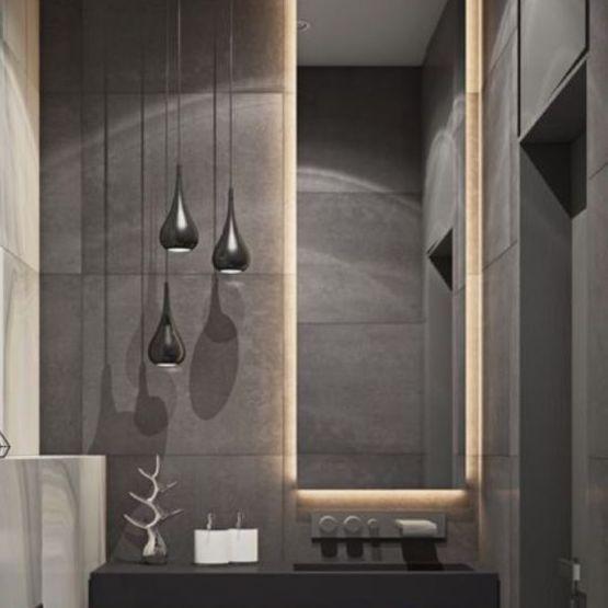 Pour Gagner En Profondeur Optez Pour Un Miroir Jusqu Au Plafond De Votre Salle De Bain Effet Garanti Avec Un Retro Bathroom Style Home Decor Bathroom Design