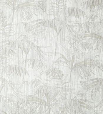 Papel pintado con hojas y plantas grises frondosas de la selva - 2020556