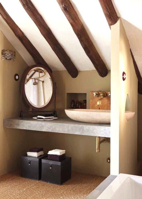 Un peque o ba o r stico y atractivo ba o bathroom - Banos rusticos pequenos ...
