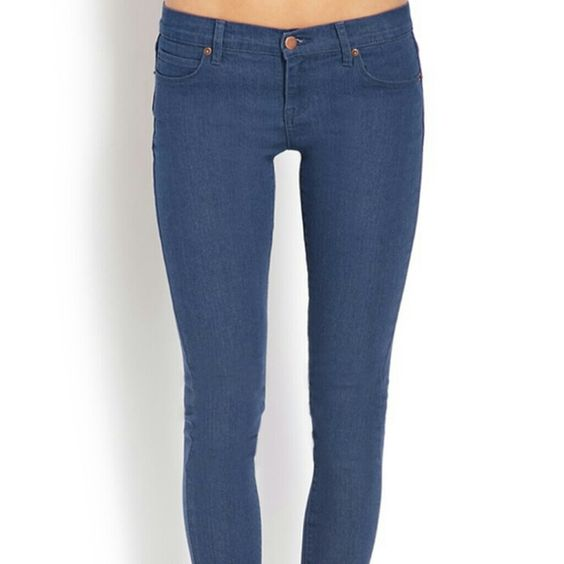 ✂ Last Call ✂ Forever 21 Skinny Low Blue Jeans | Last call ...