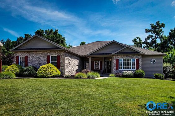 """Our congratulations to Alyce Page on her listing - 1513 Winterberry Dr York PA.  Meticulous """"1-of-a-kind"""" Rancher  formal but very elegant thru-out 4BRS w/ a private suite on each side gourmet KIT w/ granite serving counters 2 islands walk-in pantry bistro lights designer faucets EIK plus a sit-at emerald bar. KIT opens to a huge deck; accessible to MSTR suite. All new woods flrs recently installed. 4th BR currently used as OFC. 3-car GAR w/ utility WIC car buff designer flr. Professional…"""