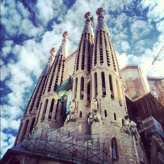"""Sagrada Familia. Barcelona!"" from mariliamary. Original point of view, well done!"