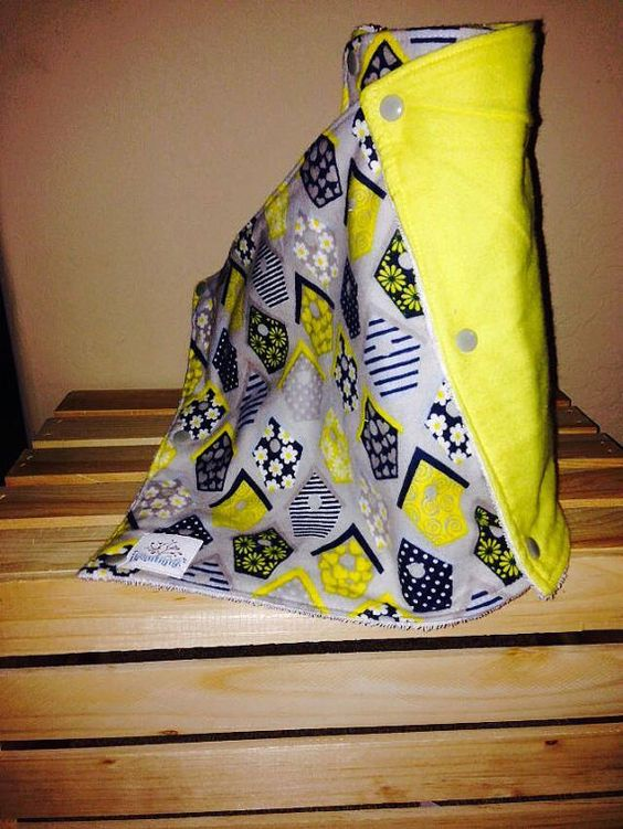 Grey and Yellow Bird Houses Set of 6 by UpcycleBabyBeautique, $24.00