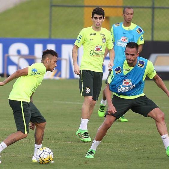 22.03.16 Treino !! #Neymar #SeleçãoBrasileira ❤⚽