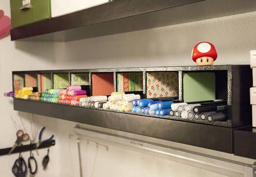 super cute shelf for craftroom or classroom