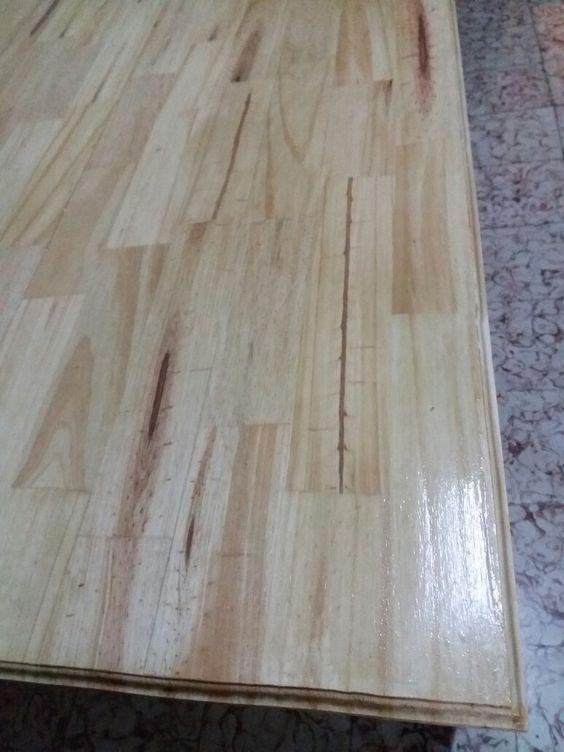 Mesa madera 1 fresada