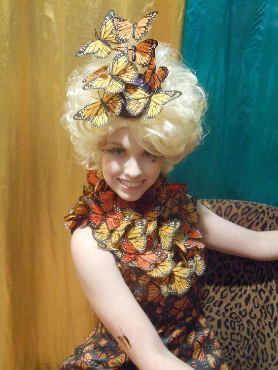 Effie Trinket cosplay. The butterfly dress! - 10 Effie Trinket Cosplays<< wow this is really, really good