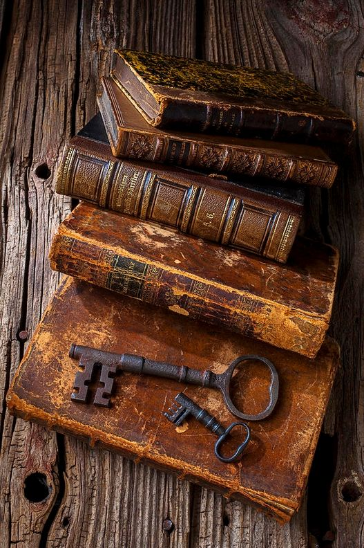 Old books; I love their scent, their inherent history, the weight of them, the way their pages feel...: