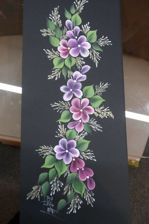 Flowers One Stroke Painting Class Acrylic Painting Flowers Flower Painting Fabric Colour Painting