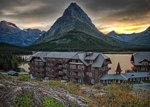 many glacier lodge: this is where we are staying for part of our honeymoon, the rest will be in the backcountry