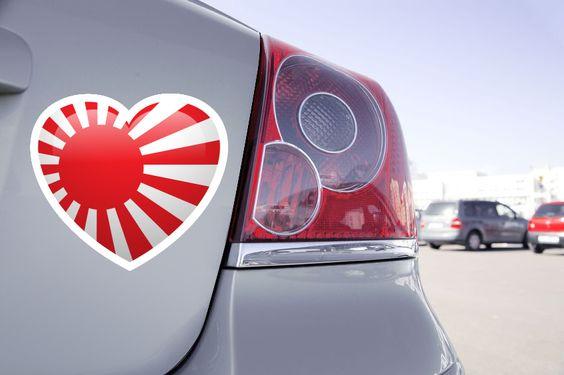 Stickers Love Flag Japon Tous Les Pays Du Monde Disponible !   #Stickers #Flag #Japon