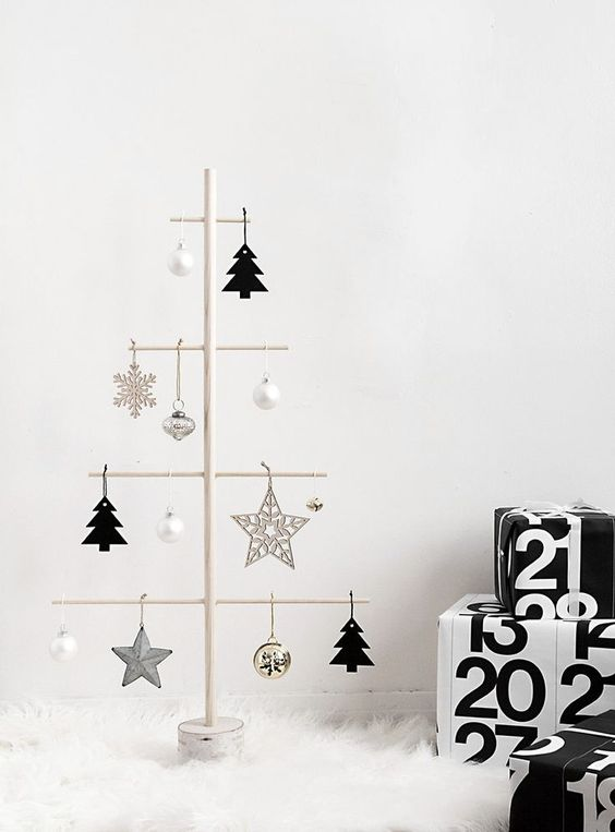 15 Do It Yourself Christmas crafts and decorations for the holiday season. Easy to make Christmas trees, cone  Christmas tree, DIY ornaments, DIY Christmas wreaths, Nordic and Scandinavian decor with Christmas garlands. Image from  Homey Oh My
