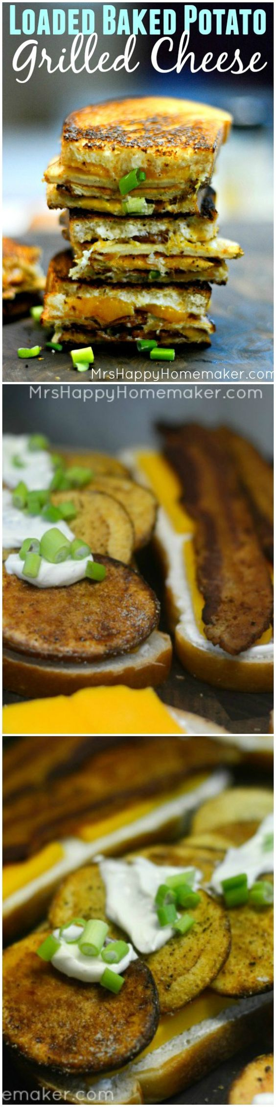 Baked Potatoes With Cheddar Sour Cream Recipe — Dishmaps
