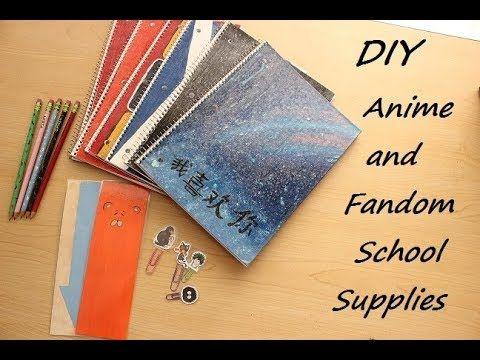 Diy Anime Fandom School Supplies