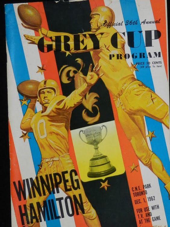 1962 Grey Cup program