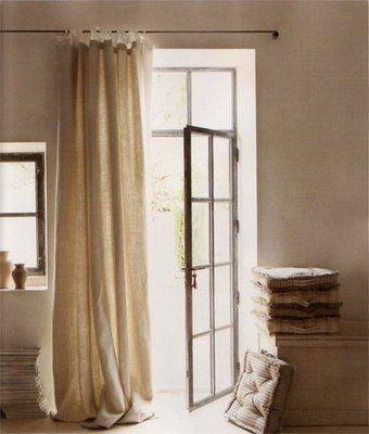 Curtains for back door idea. - My Home Favs | Pinterest - Deuren ...