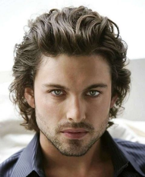 Langhaar Gel Frisuren Manner Frisurentrends Wavy Hair Men Curly Hair Men Medium Hair Styles