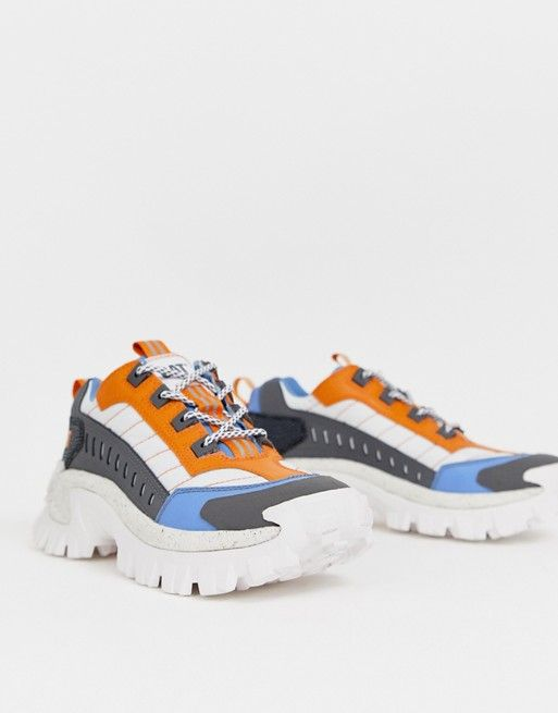 CAT Intruder chunky sneakers in blue