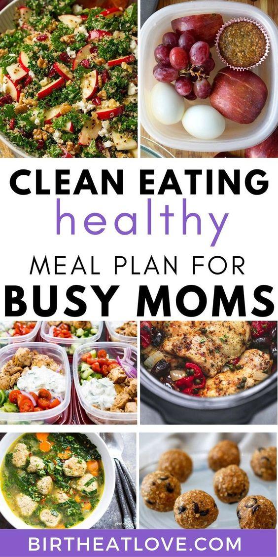 One Week Meal Plan (EASY + Clean Eating) - Birth Eat Love