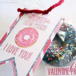 Donut Valentine with Free Printable