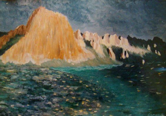 Montanhas - oil on paper
