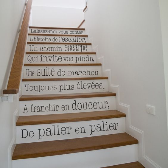 Sticker escaliers d corez vos escaliers avec cette jolie citation sticker d coup la forme for Idee deco montee escalier