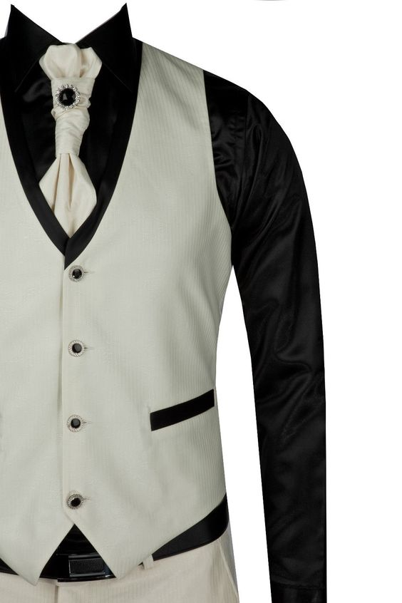 Details about Mens Wedding Party Groom Full 4 Piece Suit Cream