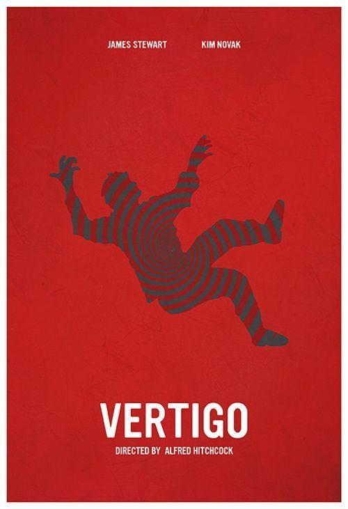 A2 A1 A4 Alfred Hitchcocks Vertigo James Stewart Vintage Movie Poster A3