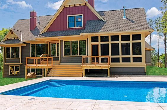 Exterior with Pool by Highmark Builders   Luxury Home Tour