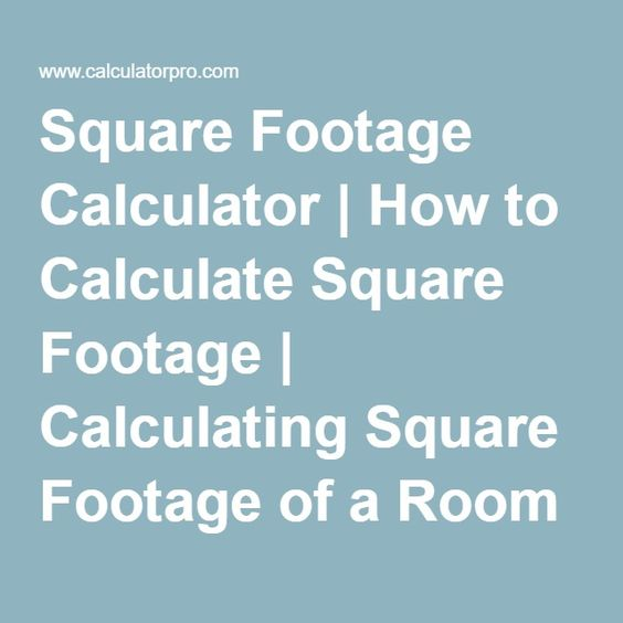 Square Footage Calculator Flooring Ideas Pinterest