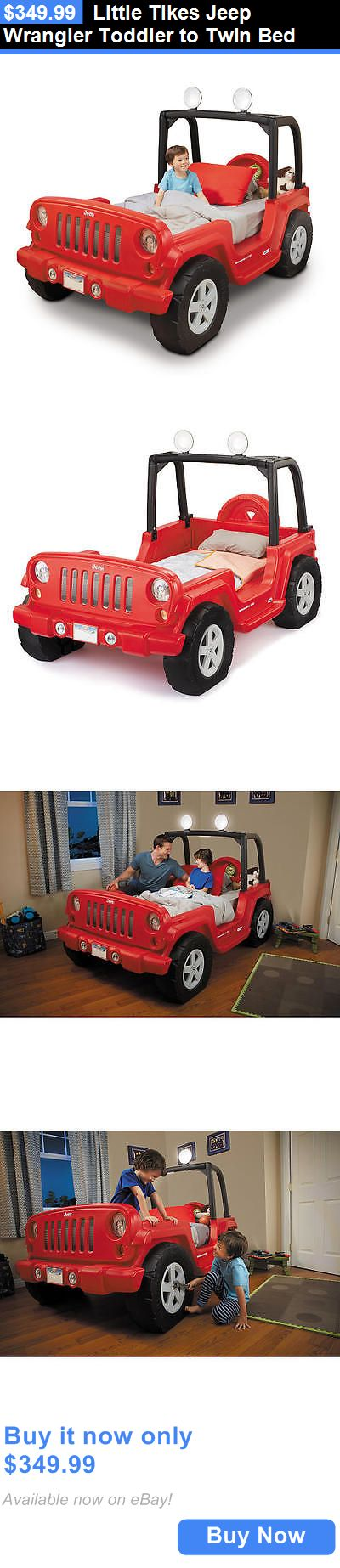 Kids Furniture: Little Tikes Jeep Wrangler Toddler To Twin Bed BUY IT NOW ONLY: $349.99